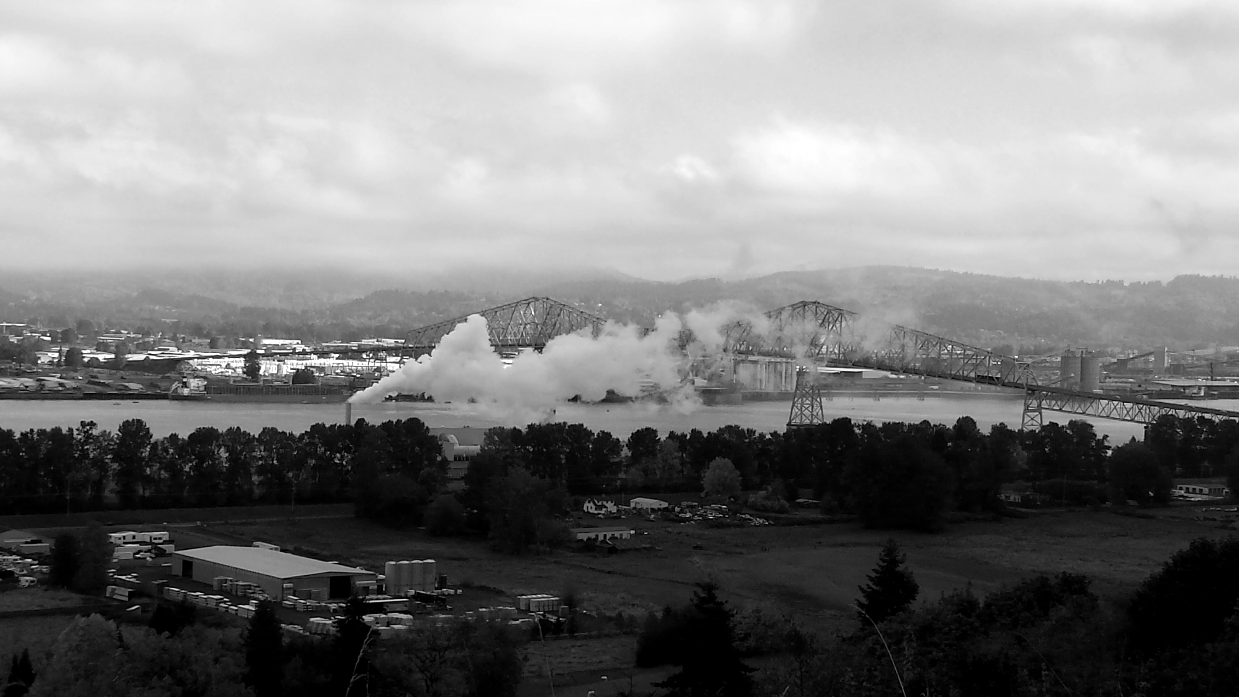 In October 2017, friends invited me to enter the Black & White photo challenge on Facebook. This is a picture of the Longview, WA skyline from the Oregon side on Hwy 30. (Linda Clifton)