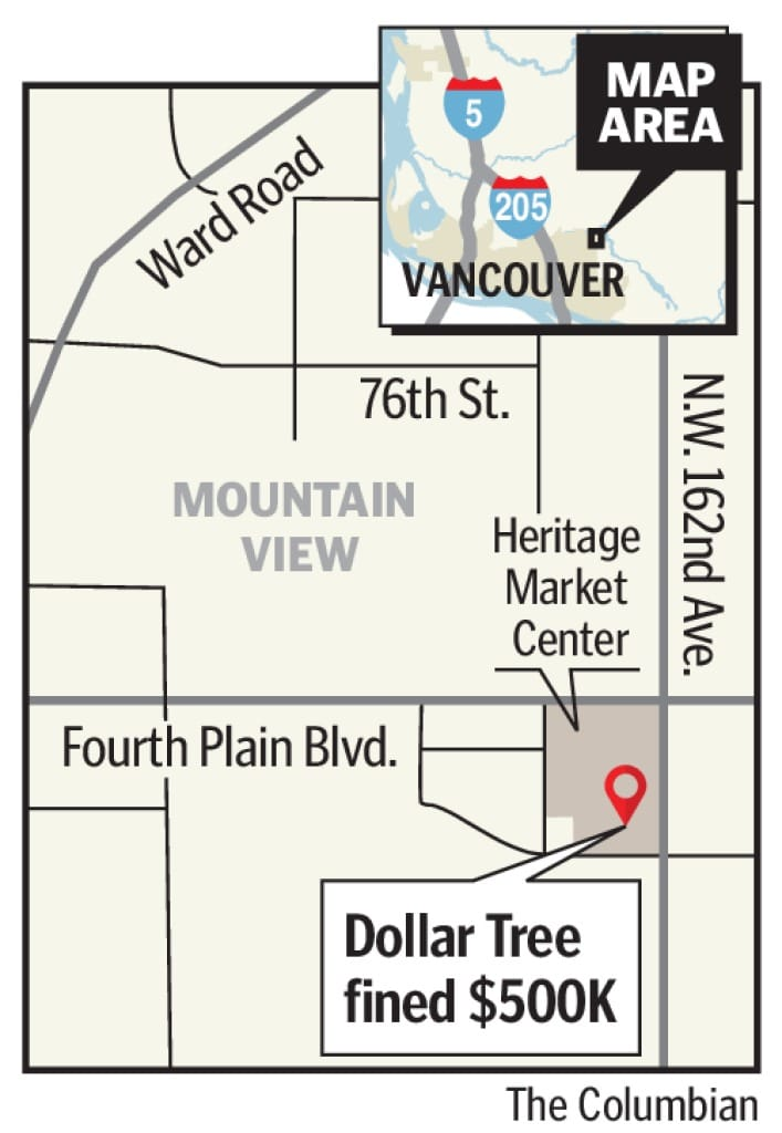Dollar Tree in Vancouver fined $503,200 for unsafe
