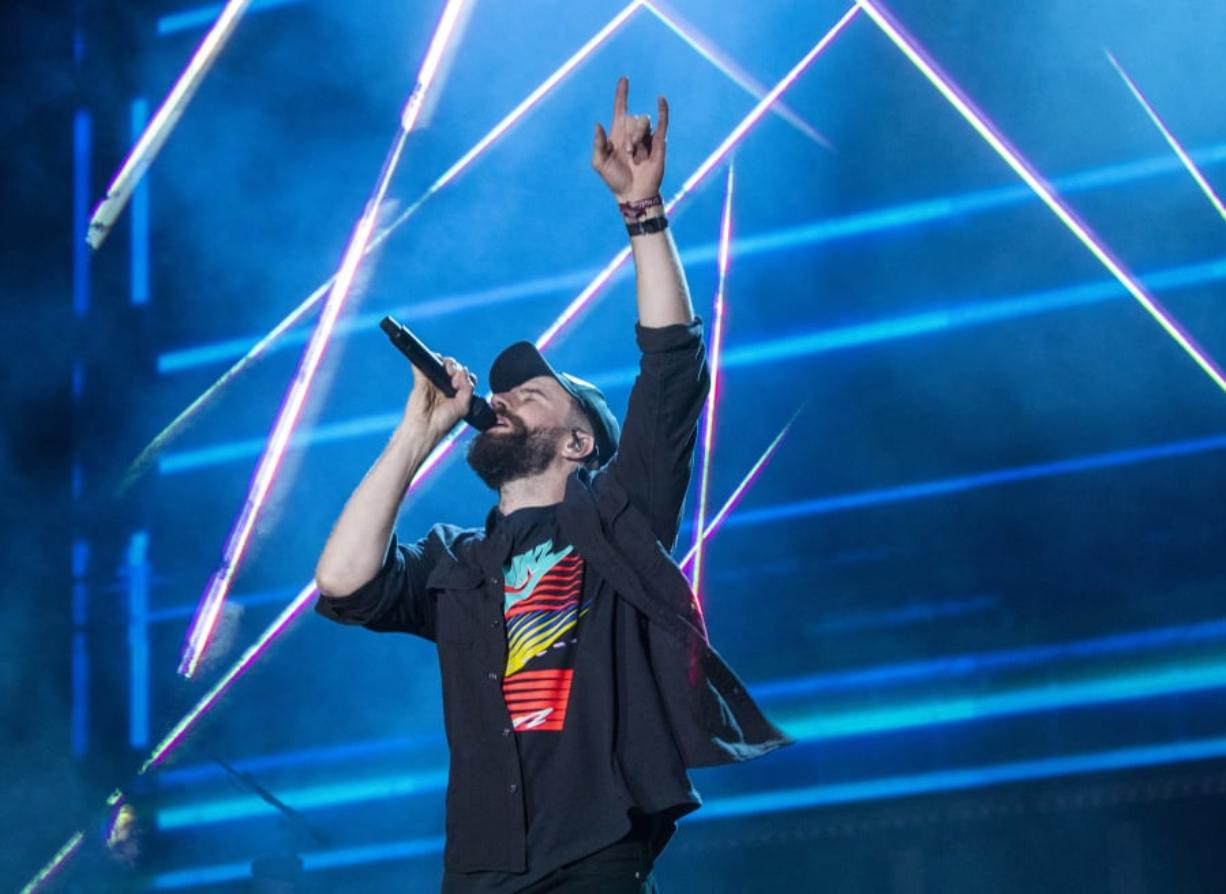 Headliner Sam Hunt performs on the Mane Stage on the second of the three-day 2019 Stagecoach Country Music Festival, the world's biggest country music festival, April 27 at the Empire Polo Fields in Indio, Calif.