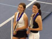 Union doubles team Miriam Muntean (left) and Nicole Knudtson.