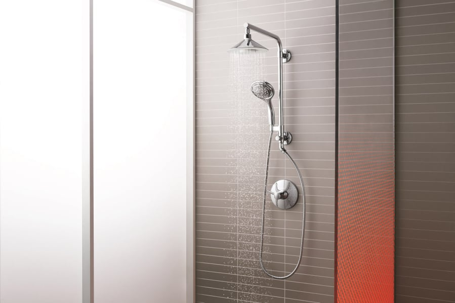 Want an instant new-bathroom feel? Update your showerhead