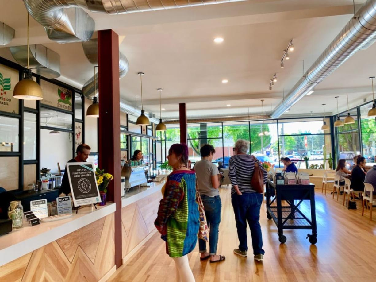 Relevant Coffee's new space in Uptown Village is light and airy, and was inspired by a similar space in Germany.