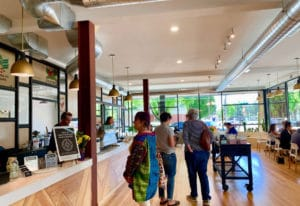 Relevant Coffee's new space in Uptown Village is light and airy, and was inspired by a similar space