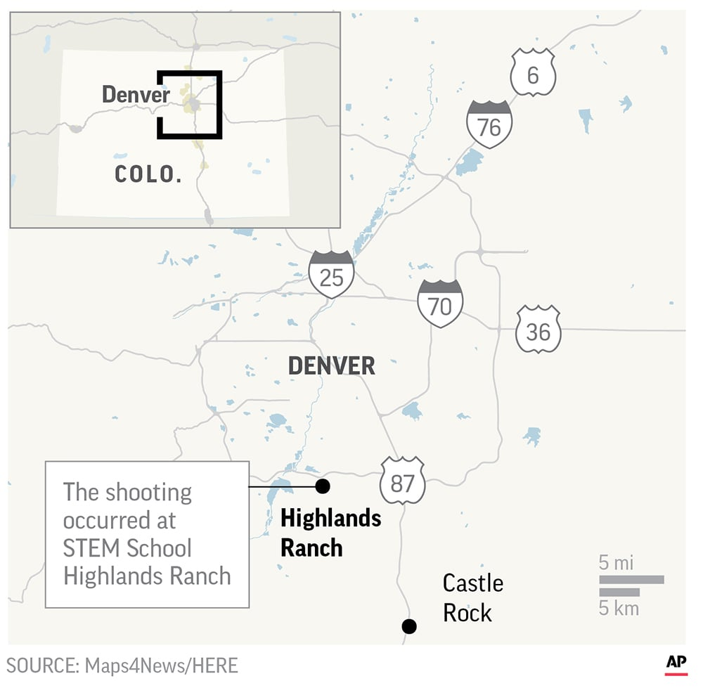 At Least 2 Handguns Used In School Shooting Near Columbine: Teen Who Charged Attackers Was Lone Death In School