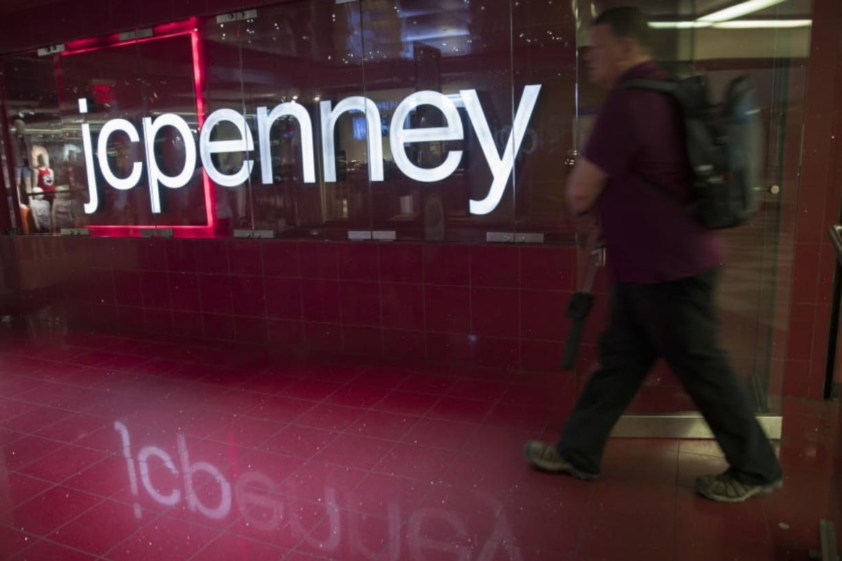 A man enters the J.C. Penney store at the Manhattan mall in New York. Associated Press files