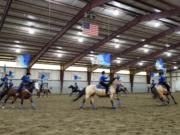 The Hockinson High equestrian drill team placed second at the WAHSET District 6 Meet 2 at Wenatchee over the weekend of April 18-21, 2019.