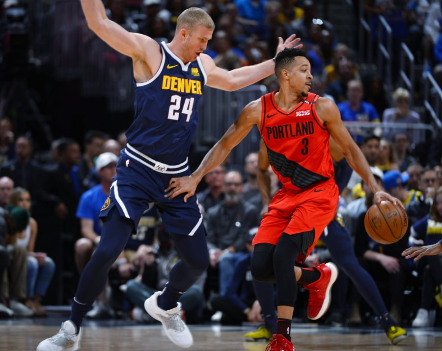 Trail Blazers beat Nuggets 119-108, force series to Game 7
