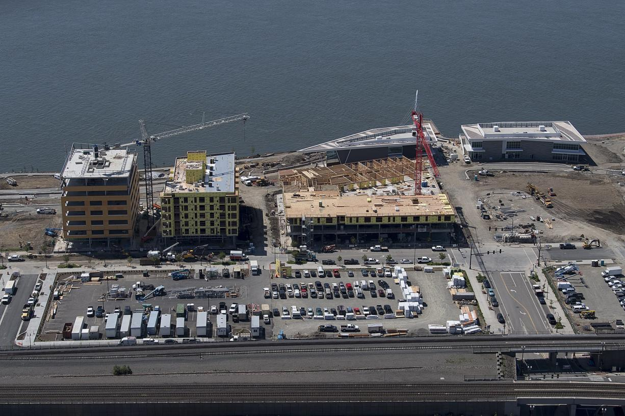 The empty lot that will is proposed to be a parking structure on the Vancouver Waterfront is photographed in May of 2018.