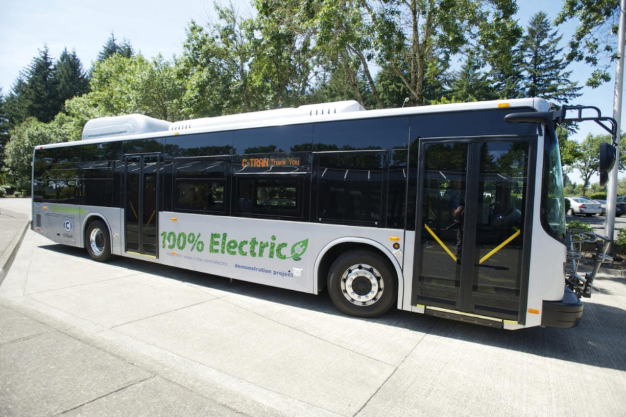C-Tran tested an all-electric bus on a few Vancouver routes in 2014. The agency is purchasing 10 electric buses thanks in part to a grant made available because of Volkswagen's emissions scandal settlement. The Columbian files