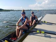 Kate Bricker, left, and Grace Dojan of Vancouver Lake Rowing Club placed fourth at the U.S. Rowing Youth National Championship June 6-9 in Sarasota, Fla.