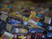 Fireworks available for purchase in Clark County.