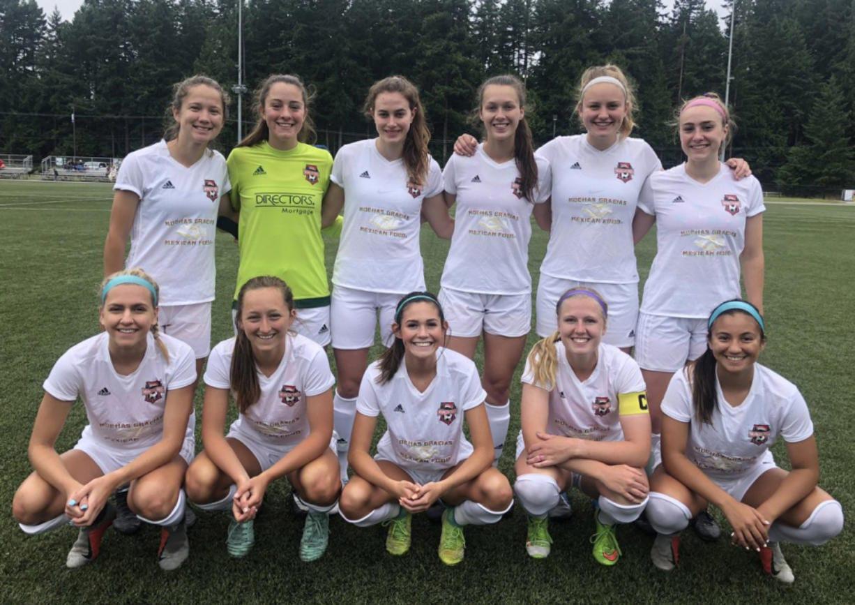 Washington Timbers starting XI at Bremerton on Saturday, June 22, 2019.
