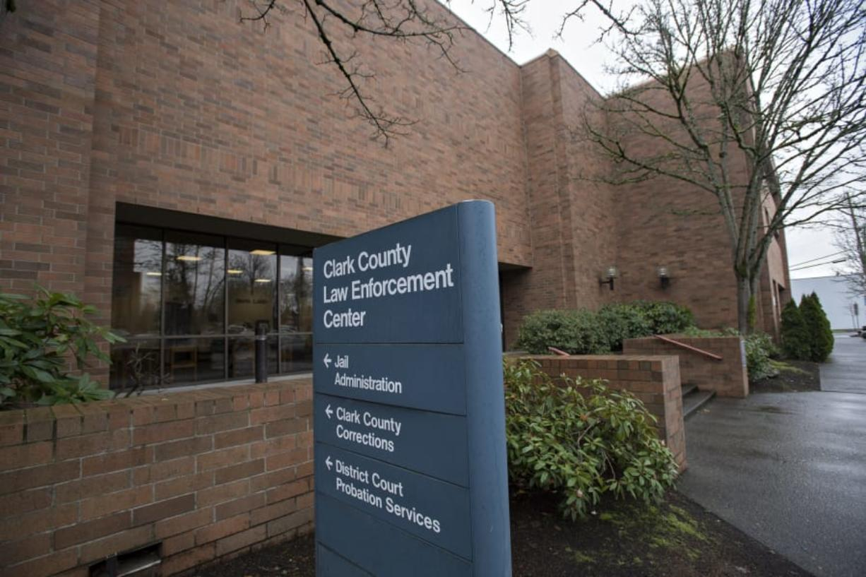 Officials are hoping to upgrade a number of facilities at the Clark County Jail, pictured at its current location in downtown Vancouver in January 2018.