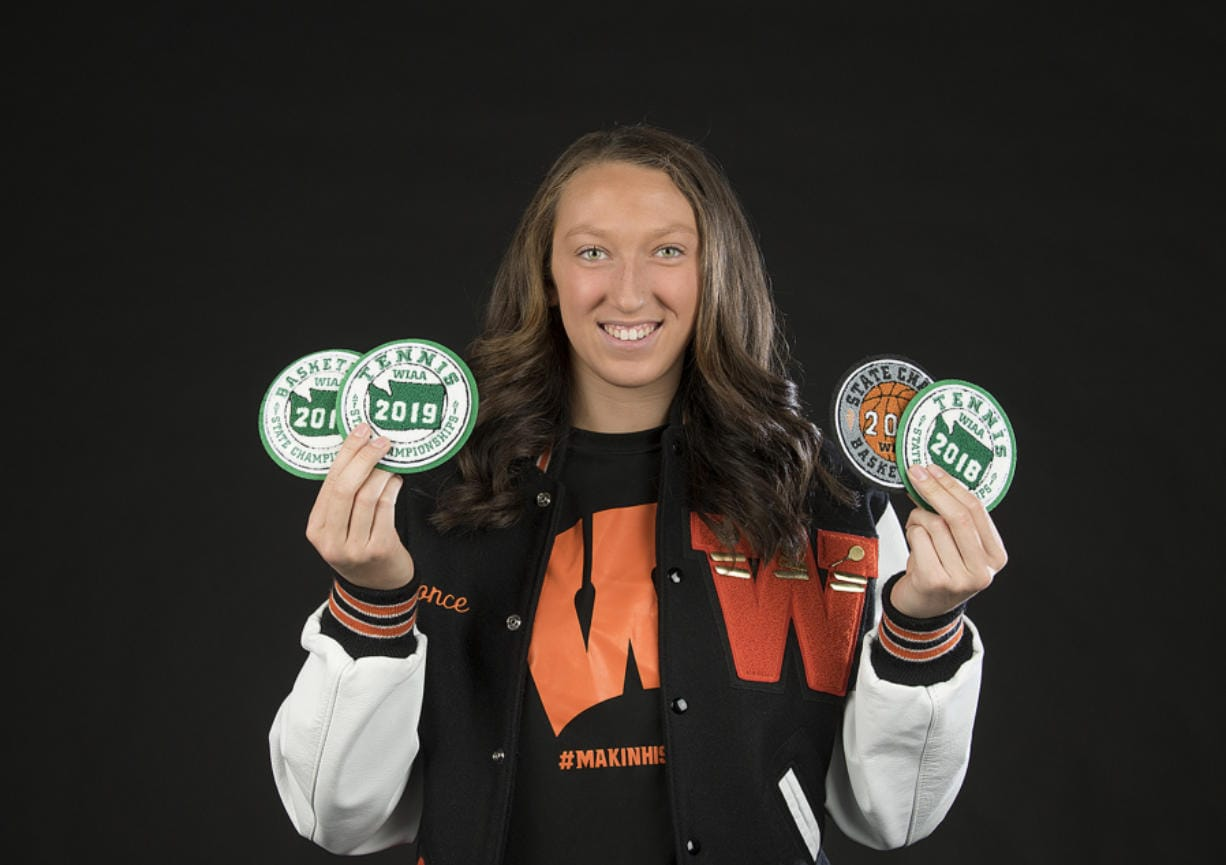 Washougal High senior Beyonce Bea, our All-Region girls athlete of the year, is pictured at The Columbian on Wednesday afternoon, June 5, 2019.