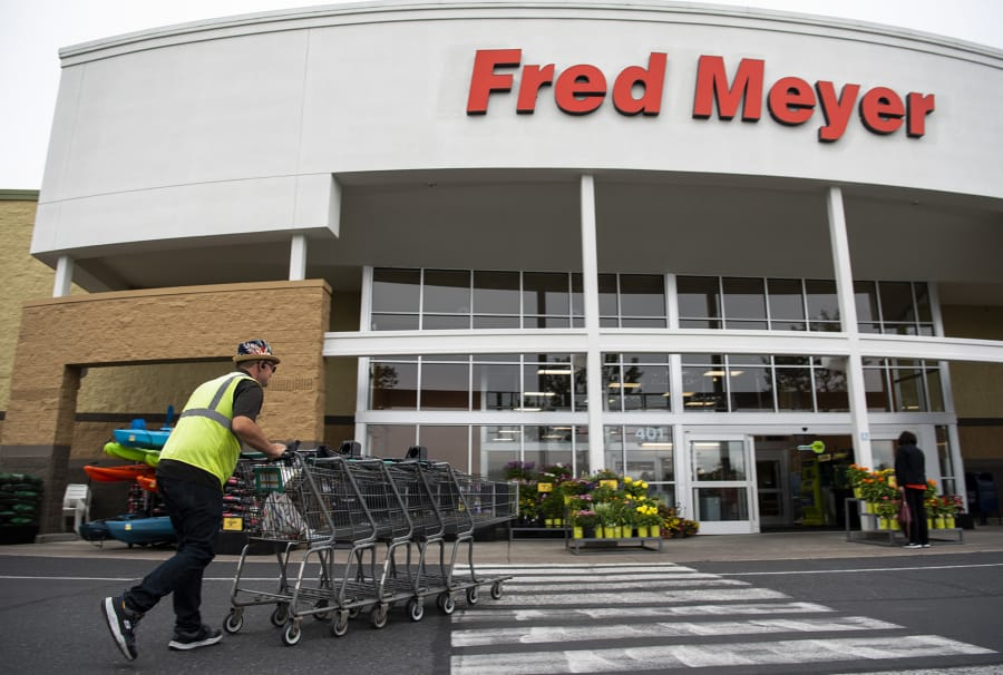 A union representing thousands of Fred Meyer workers reached a tentative agreement with employers. (Alisha Jucevic/The Columbian)