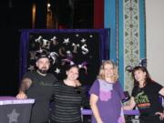 Minnehaha: Furry Friends volunteers, from left, Mike and Jenn Morris, Pam Petitt and Diane Stevens at an Acro-Cats show last month in Portland. They volunteered at the show and were presented with a check for $1,562 for their help with the shows.