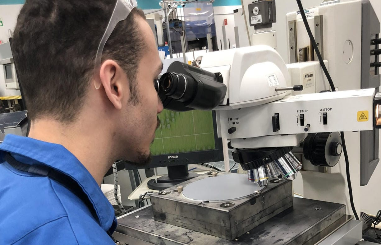Devon Laverne, a 2018 graduate from Mountain View High School in Evergreen District, works in the laser mark department at SEH America in Vancouver.