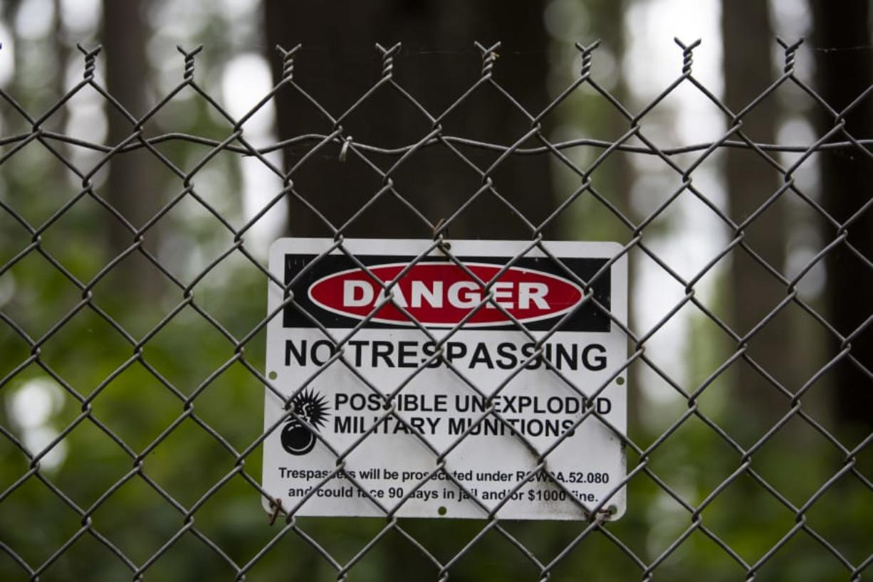 The public is still prohibited from entering Camp Bonneville because of the danger of unexploded munitions left from military training.