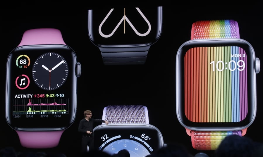 Apple's Kevin Lynch speaks on Apple Watch at the Apple Worldwide Developers Conference in San Jose,