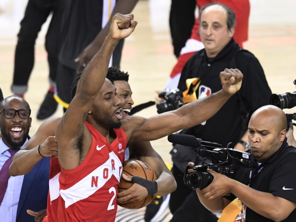 reputable site 75fb2 babc3 Raptors capture first NBA title, beat Warriors in Game 6 ...