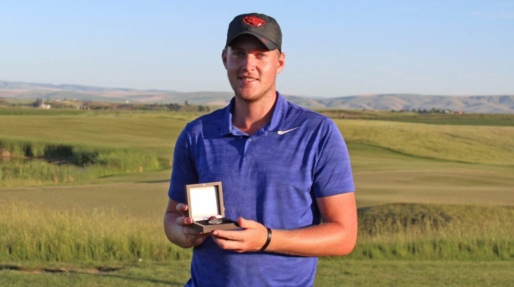 Vancouver's Spencer Tibbits qualified for the U.S. Open by finishing tied for second at the Sectional Qualifier at Wine Valley Golf Club in Walla Walla on Monday, June 3, 2019. The top three golfers from this Sectional advanced to the U.S. Open, to be held June 13-16 at Pebble Beach, Calif. (Washington State Golf Association)