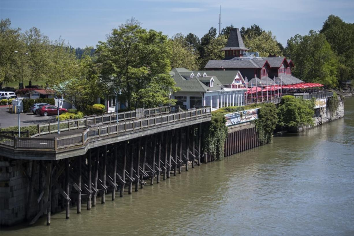 The proposed project from Kirkland Development would redevelop the site of Joe's Crab Shack and Who Song and Larry's, creating a mixed-use project with apartments, office and retail space and a possible hotel. It would also rebuild and widen the section of the Columbia Renaissance Trail that runs along the south side of the restaurants, which has been closed since 2007 due to a deteriorating foundation.