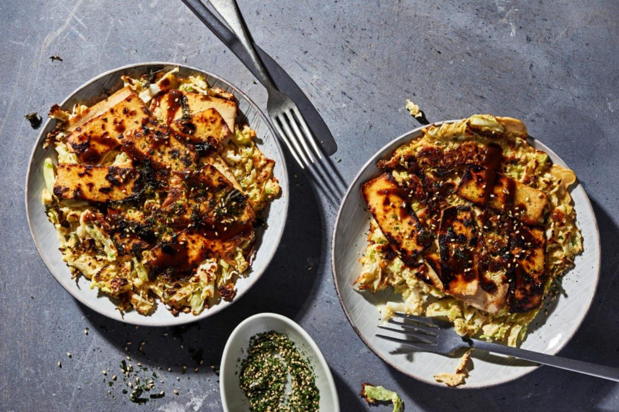 Okonomiyaki with Smoked Tofu.