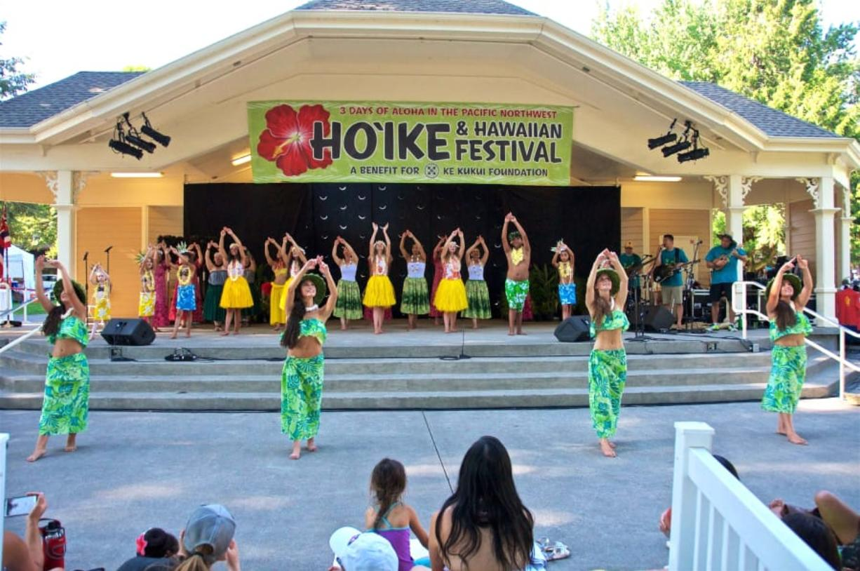Dancers perform at a recent Three Days of Aloha summer festival. This year's event adds a day. Courtesy of Ke Kukui Foundation