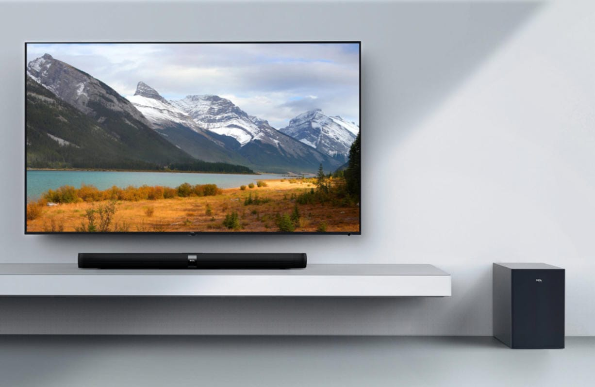 The TCL Alto 7+ ($179.99 at tclusa.com) has a 36-inch-wide sound bar with a wireless subwoofer.