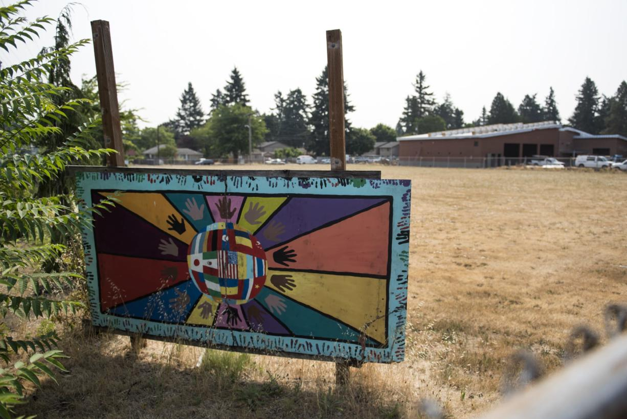 Warrior Field has been identified as the site for a community commons space on Fourth Plain. VHA is starting to look into developing the site, so it would have residential space on top and commercial on the ground floor. (Alisha Jucevic/The Columbian)