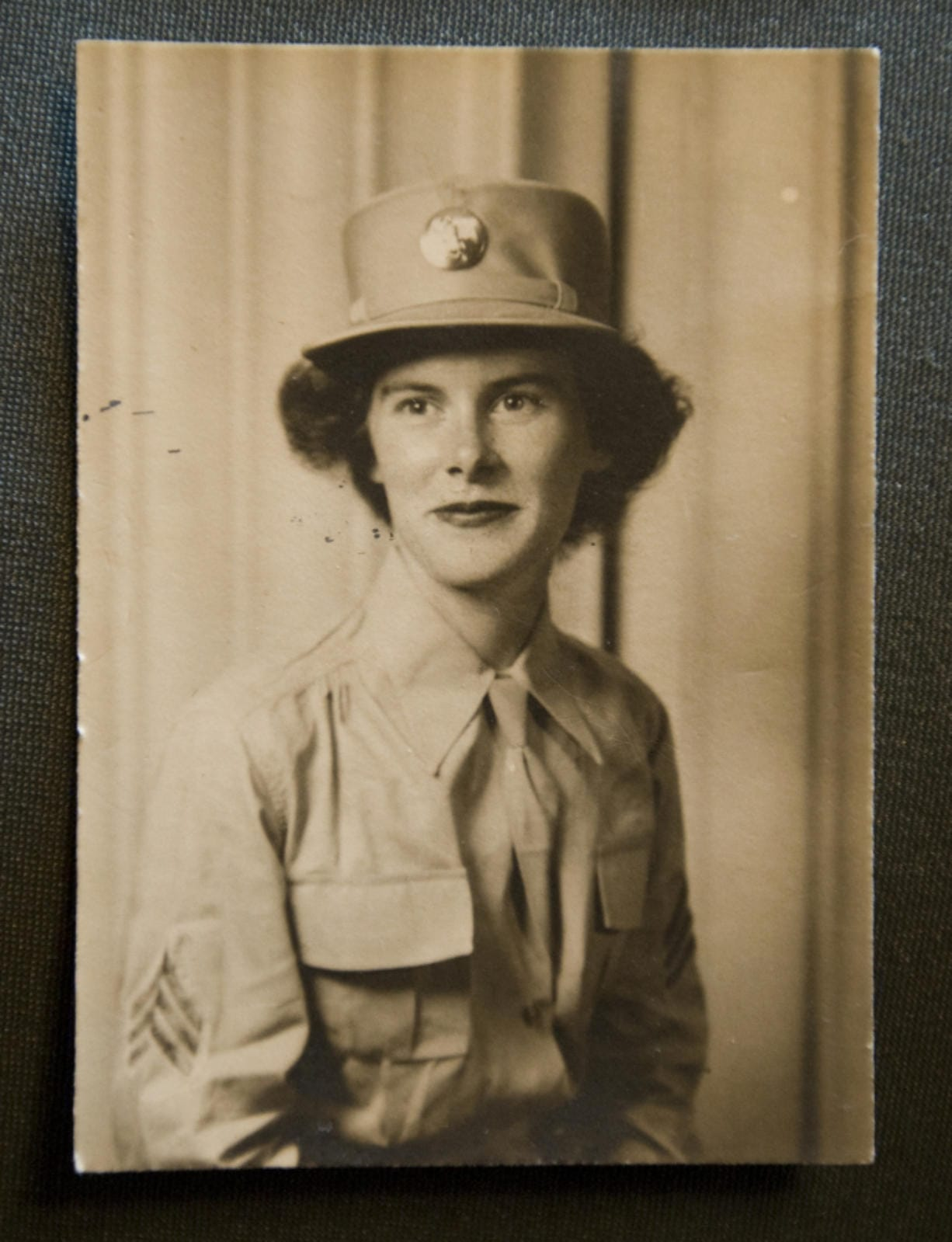 The Columbian file photos Dorothy Dwyer of Ridgefield, shown during her military career, right, and in 2009, above, was a World War II WAC and served in Gen. Eisenhower's headquarters in Algiers.