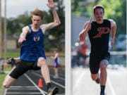 Nick Jenkins, left, and Nolan Mickenham were among several local athletes who competed at the 2019 USATF Hershey Junior National Championships in Sacramento.