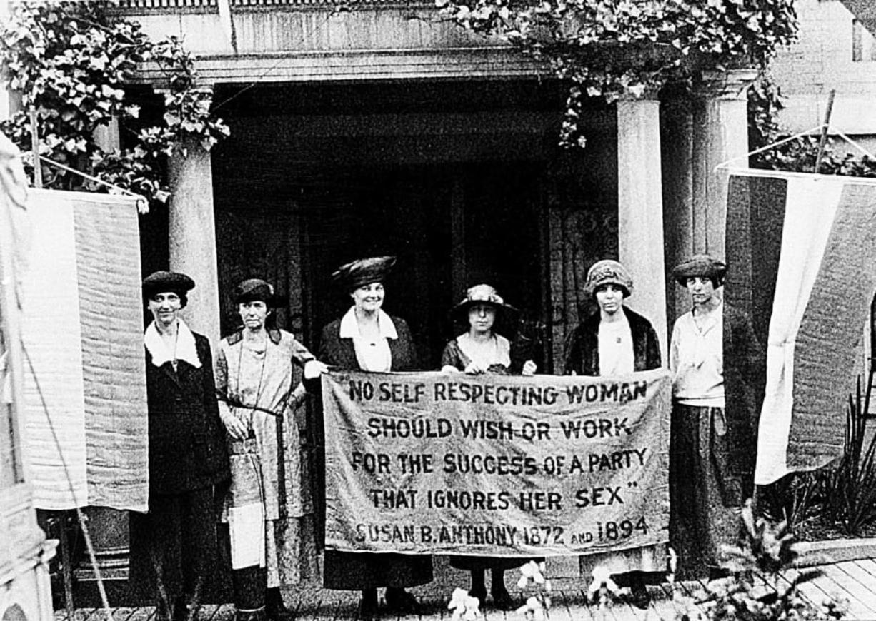 Women stumping for the right to vote in 1920. Washington was an early adopter of women's suffrage, but that was only after multiple reversals across decades of political struggle.