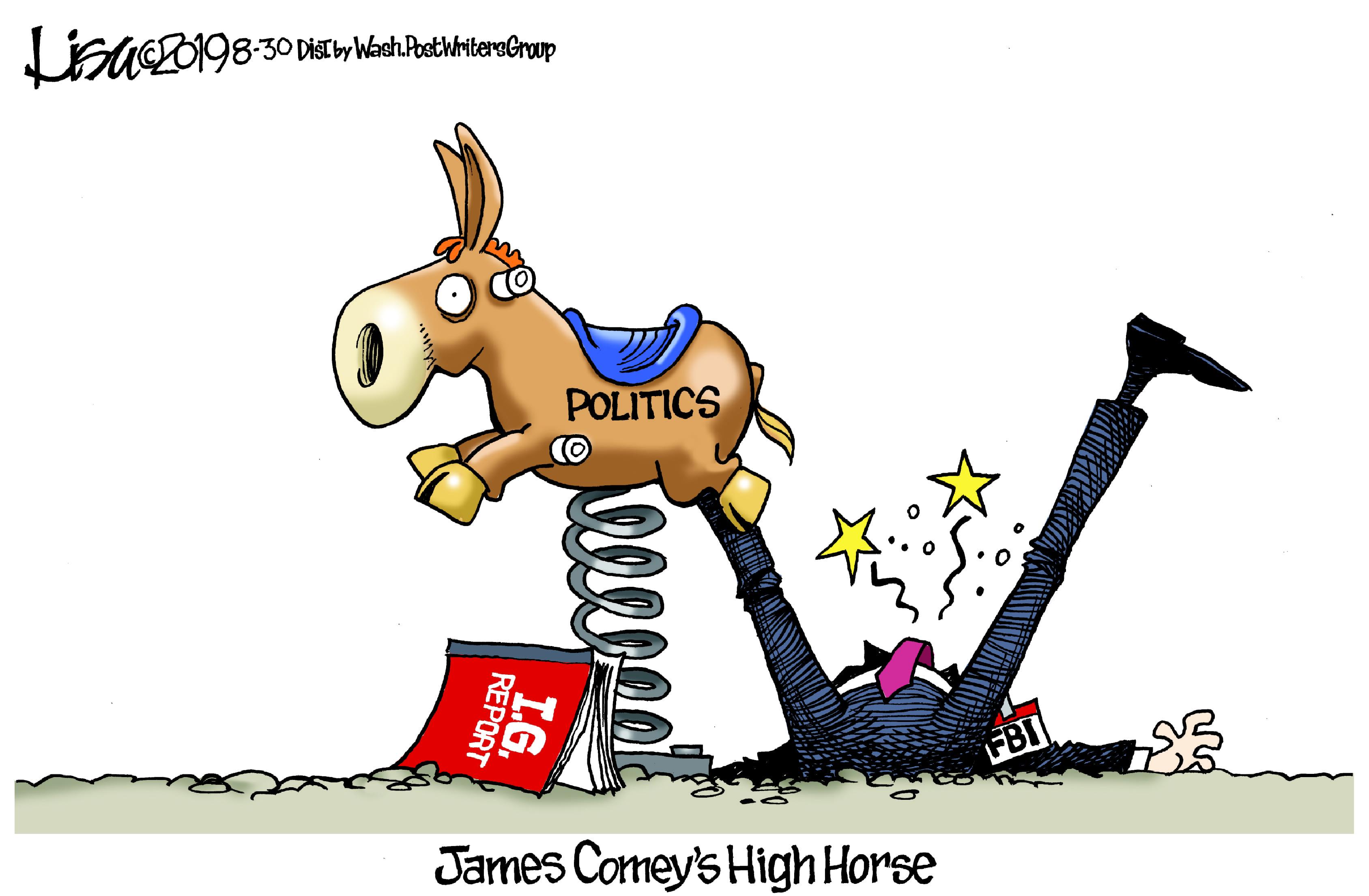 Aug. 31: James Comey's High Horse