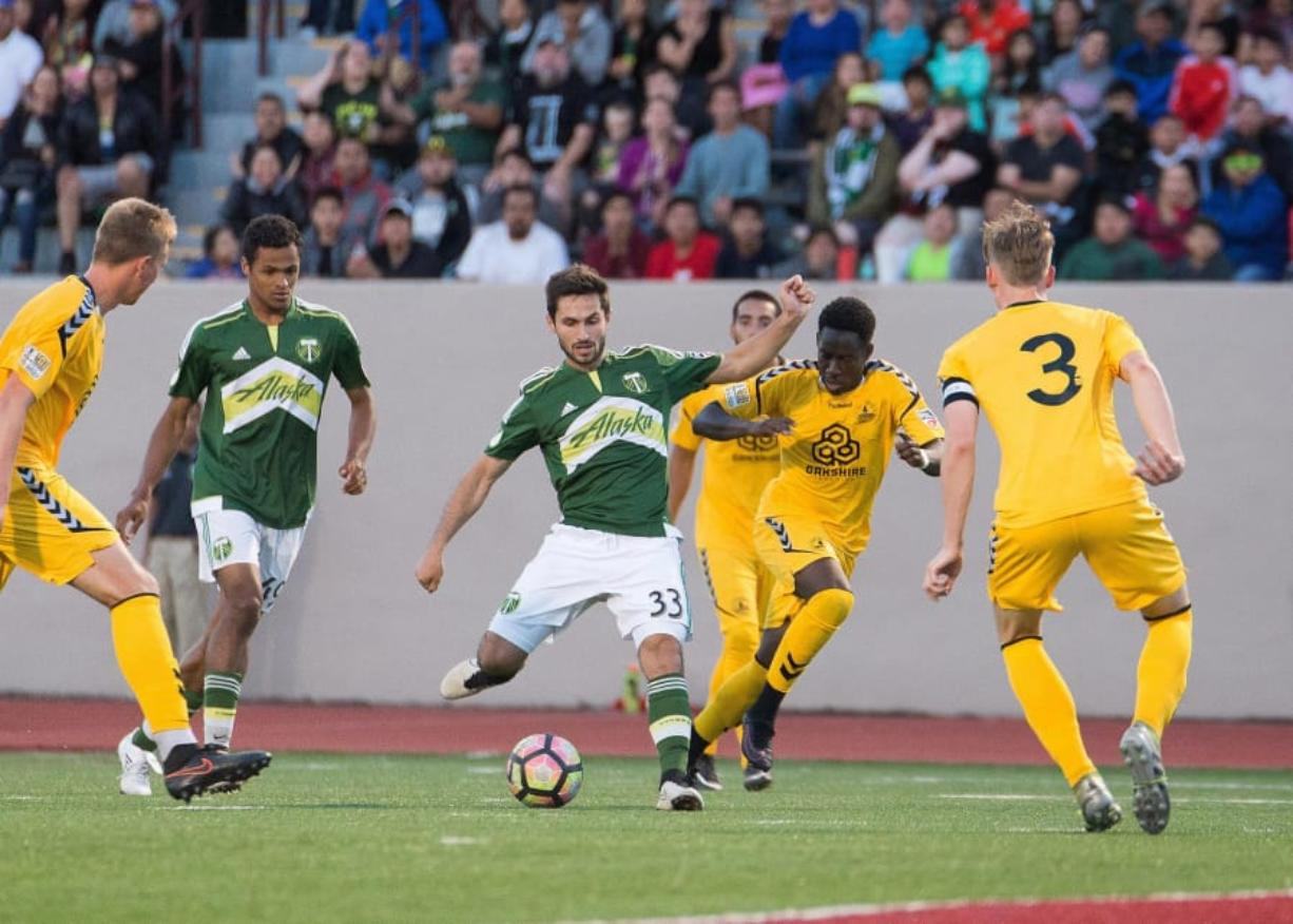 Timur Zhividze (33), playing for Timbers U23 squad, has been given a chance to play professionally with the Philadelphia Fury. Timbers U23 photo
