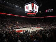 Portland's Moda Center will be packed again as the Trail Blazers tip-off the 2019-20 regular season on Wednesday, Oct. 23 against the Denver Nuggets. (AP Photo/Ted S.