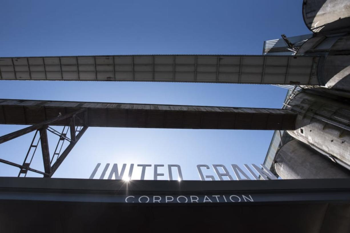 The entrance to the main control office at United Grain's Port of Vancouver facility. Nathan Howard/The Columbian