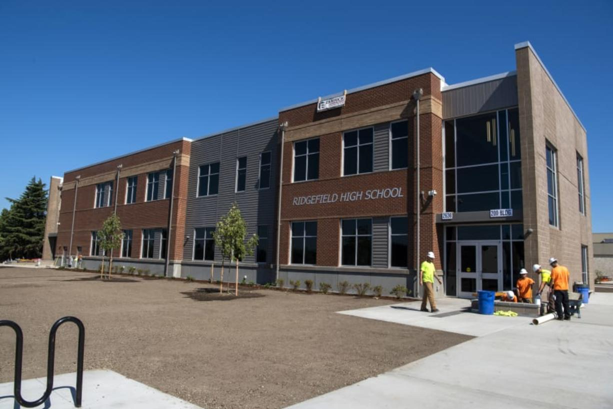 The new building at Ridgefield High School, which was funded by a voter-approved 2017 bond.
