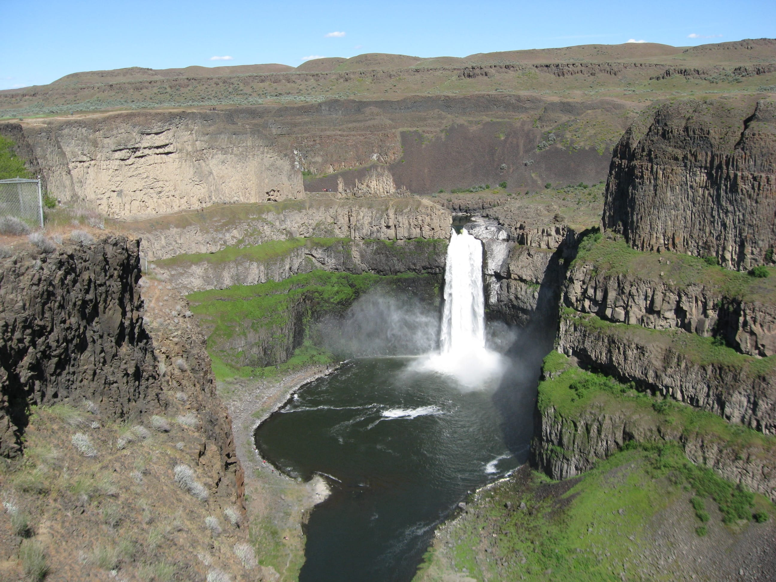 A very beautiful day in 2015 at Palouse Falls in eastern Washington. (Roger Odahl)