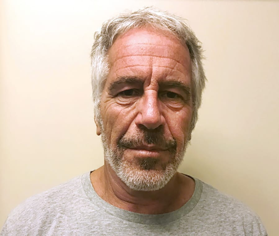 FILE - This March 28, 2017, file photo, provided by the New York State Sex Offender Registry shows Jeffrey Epstein. Epstein has died by suicide while awaiting trial on sex-trafficking charges, says person briefed on the matter, Saturday, Aug. 10, 2019.