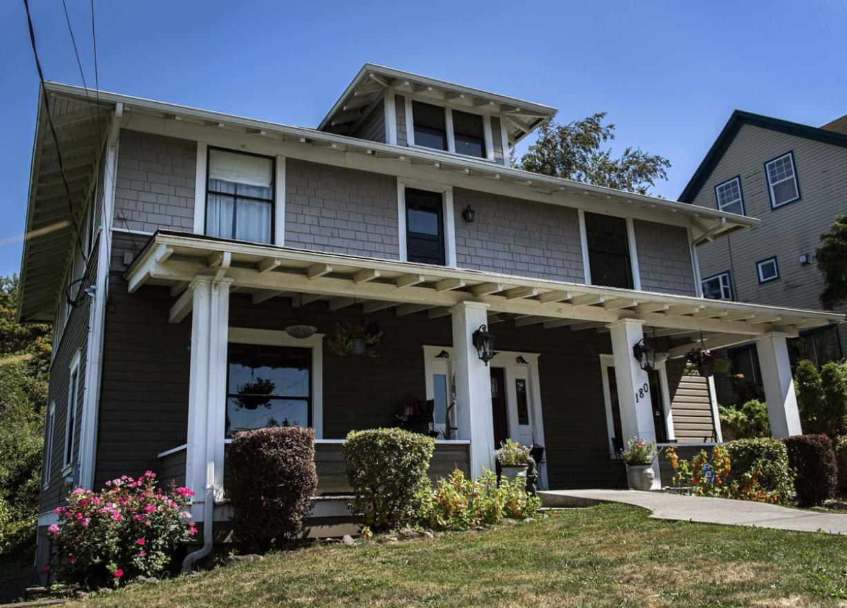 "Commonly referred to as The Montgomery House, this 1908 historic Kalama home will be featured on an episode of the Travel Channel's ""Ghost Brother: Haunted Houseguest"" on Friday. (Courtney Talak/The Daily News)"