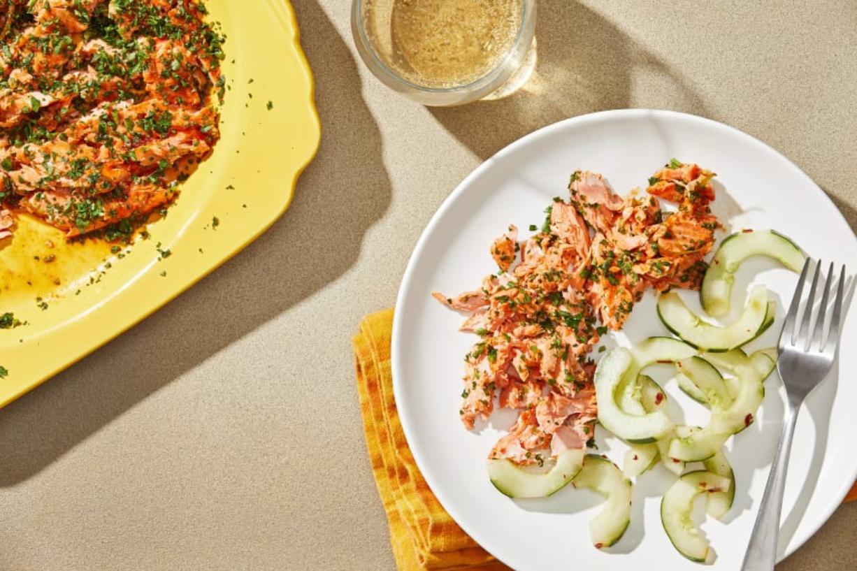 Salmon With Sriracha and Lime.