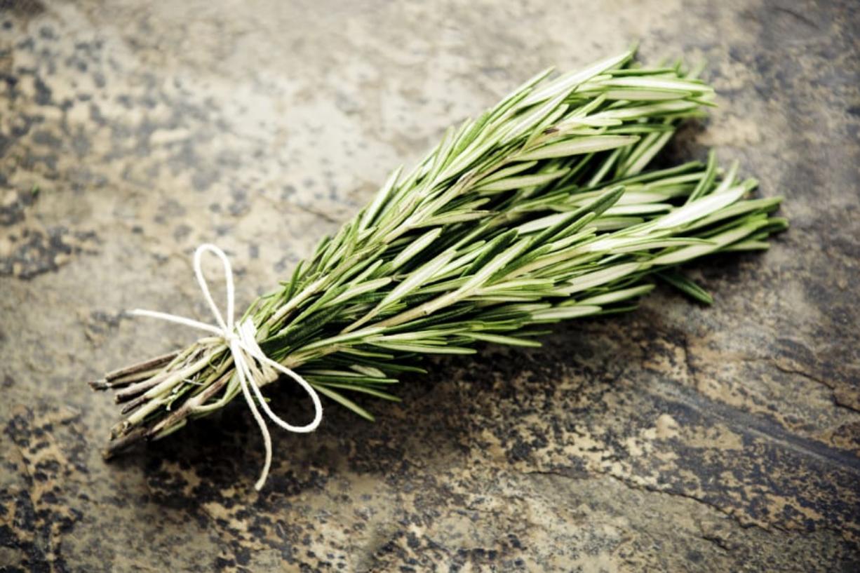 Rosemary is often used to season chicken, turkey, pork, sausage and lamb. iStock