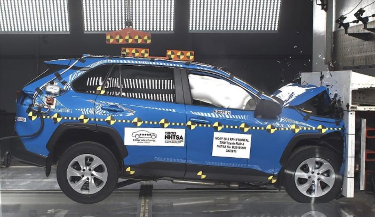 Crashworthiness test for government safety rating system U.S. Department of Transportation/NHTSA photo