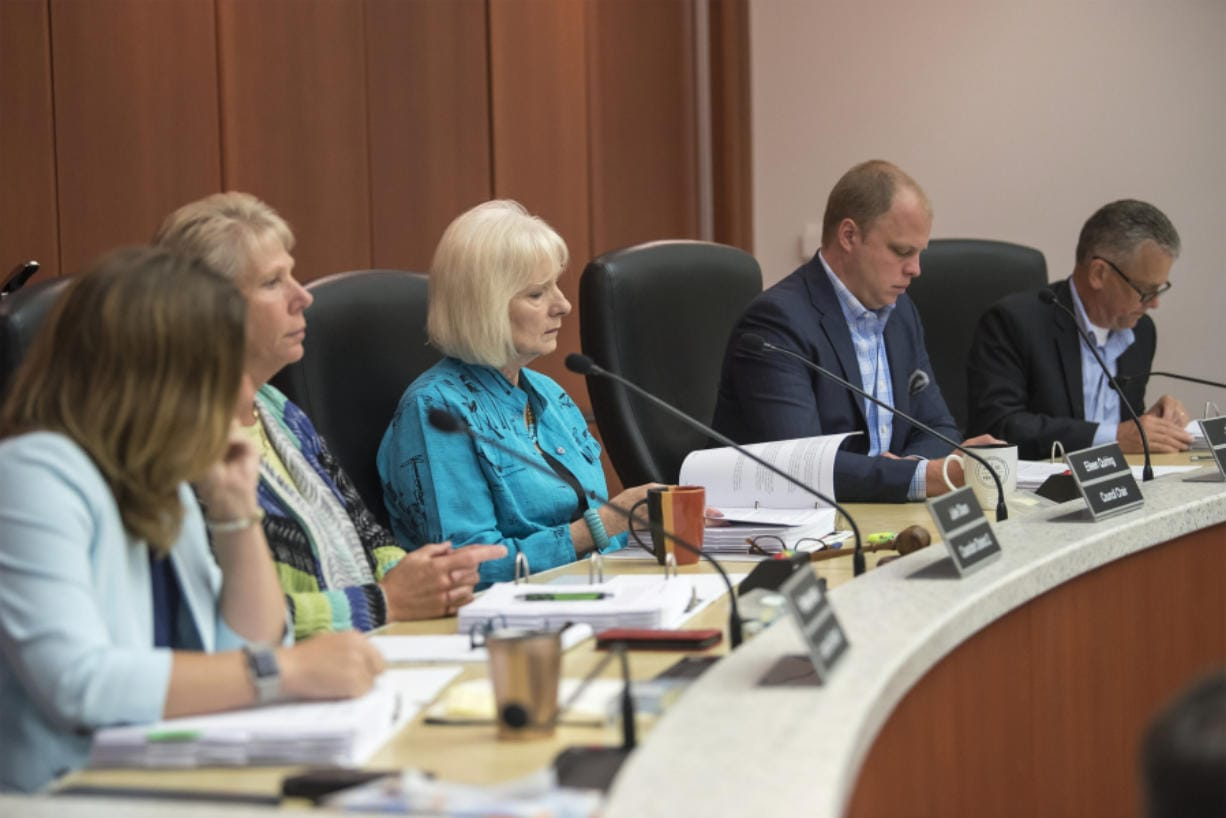 The Clark County Council listens to a presentation from its Correctional Facility Advisory Commission.