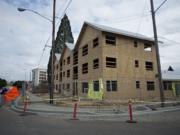 Construction crews are making progress on The Pacific Apartments, located at 3209 Northeast 78th Avenue, as seen on Friday morning, Sept. 6, 2019.