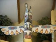 Woodland resident Bob Nelson now owns one of the totem poles that used to be in the old Totem Pole Restaurant.