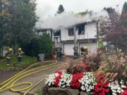 Fire crews respond to a Vancouver house fire.