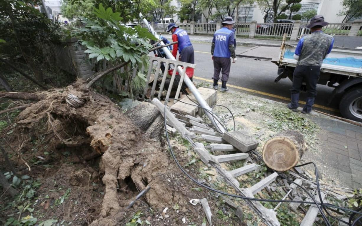 Several people killed, numerous injured as Typhoon Tapah hits southern S. Korea