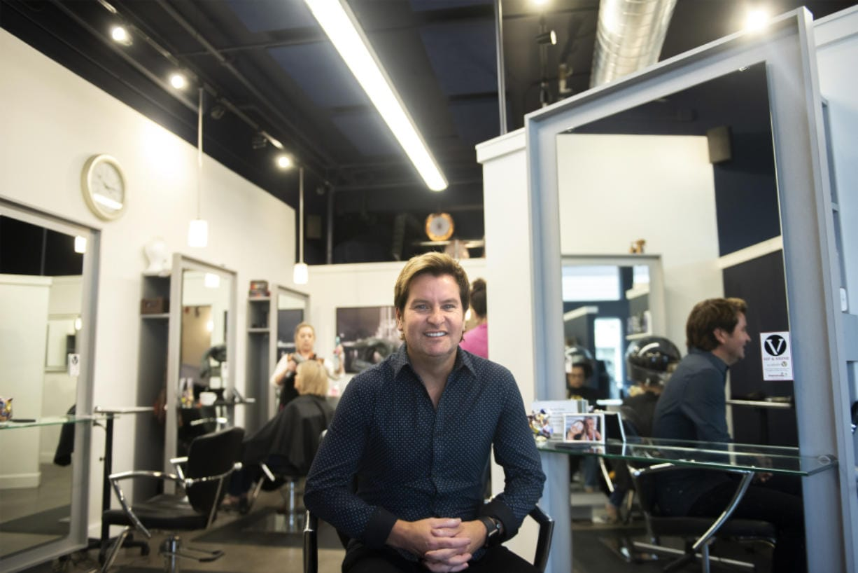 Grant Whitney, owner of Studio V, hopes to leverage his business for a good cause with a Sip and Shine fundraiser for Shared Hope International.
